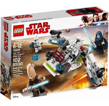 LEGO 75206  Star Wars Jedi en Clone Troopers Battle Pack