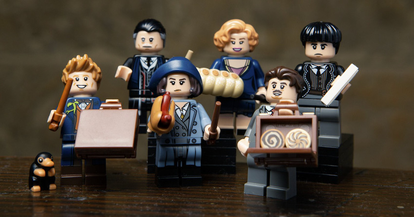 De figuren uit de film Fantastic Beasts
