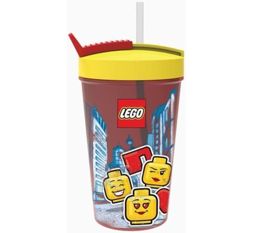 Drinkbeker met rietje LEGO Iconic Girl (40441725)
