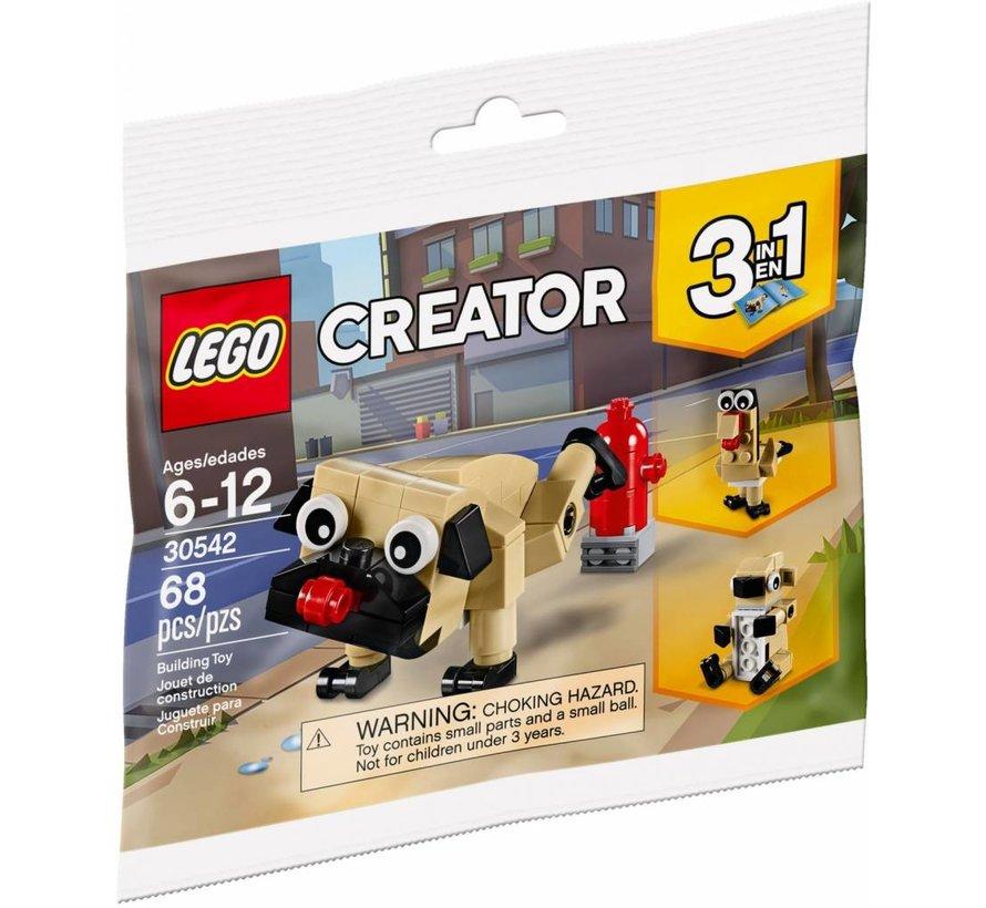 30542 Creator Schattige Mopshond (polybag)