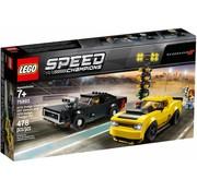 LEGO 75893 Speed Champions 2018 Dodge Challenger SRT Demon en 1970 Dodge Charger R/T
