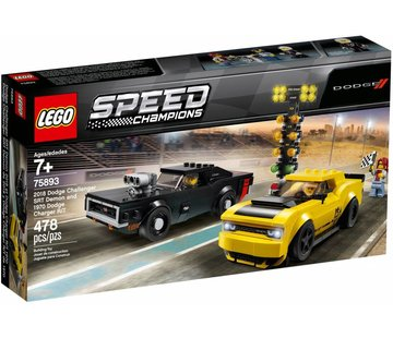 LEGO 75893  Speed Champions 2018 Dodge Challenger SRT Demon en 1970 Dodge Charger R/T