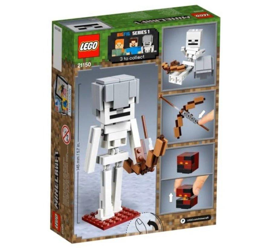 21150 Minecraft BigFig skelet met magmakubus