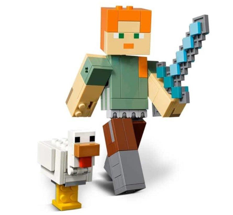 21149 Minecraft BigFig Alex met kip
