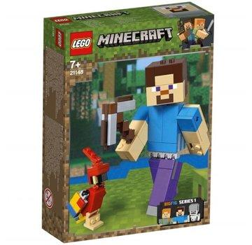LEGO 21148 Minecraft BigFig Steve met papegaai