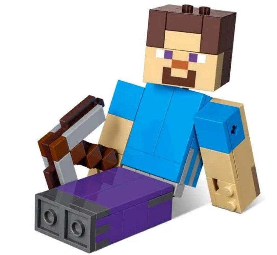 21148 Minecraft BigFig Steve met papegaai