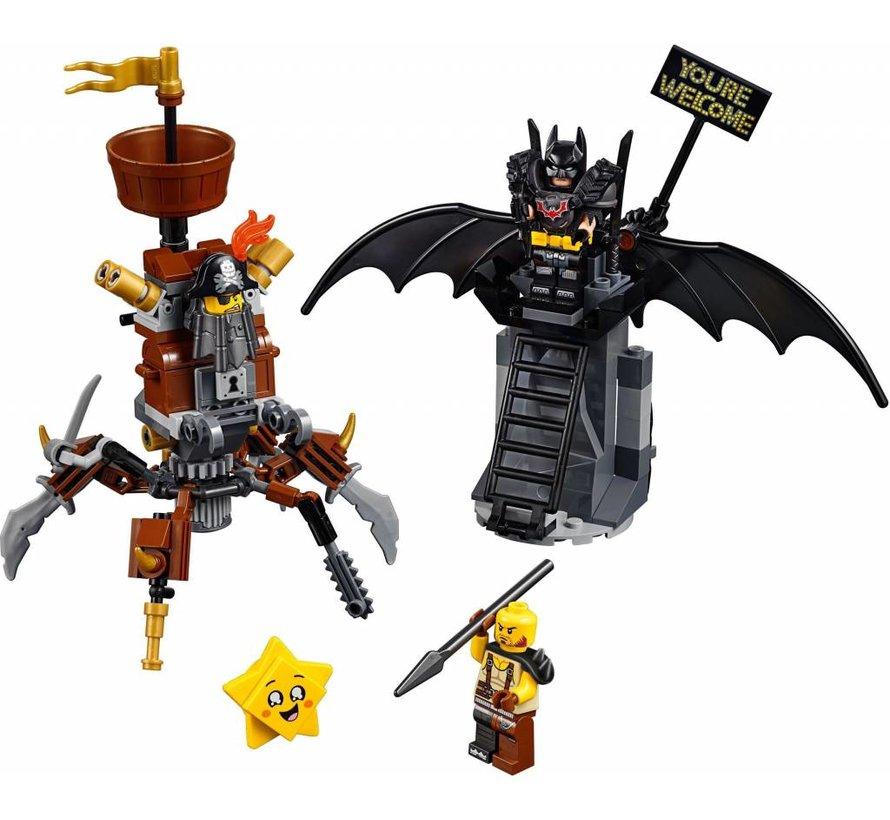 70836The Movie Battle-Ready Batman en MetaalBaard