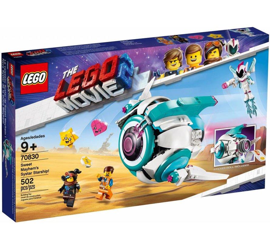 70830 The Movie Lieve Chaos'Systar ruimteschip