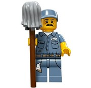 LEGO 71011-9 : Minifiguren Serie 15 Janitor