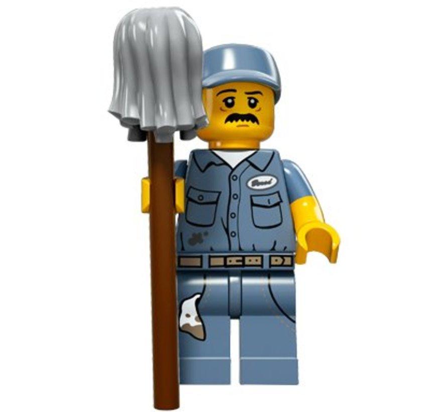 71011-9 : Minifiguren Serie 15 Janitor
