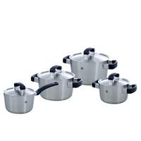 BK Conical Cool Kookpannenset - 4 delig - RVS