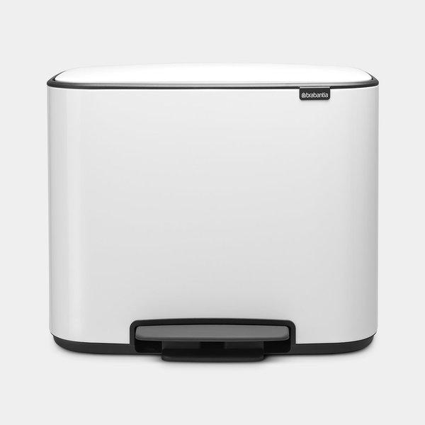 Brabantia Bo Pedaalemmer - 3 x 11 liter - White