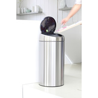 Touch Bin Recycle afvalemmer 2 x 20 ltr Matt Steel Fingerprint Proof