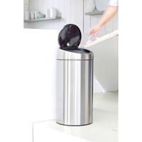 Touch Bin Recycle afvalemmer 2 x 20 ltr Brilliant Steel