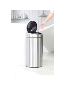 Brabantia Touch Bin Recycle afvalemmer 2 x 20 ltr Brilliant Steel