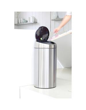 Brabantia Touch Bin Recycle afvalemmer 2 x 20 ltr Brilliant Steel