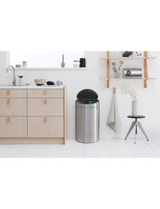 Brabantia Touch Bin Recycle afvalemmer 10 + 23 ltr Matt Steel Fingerprint Proof