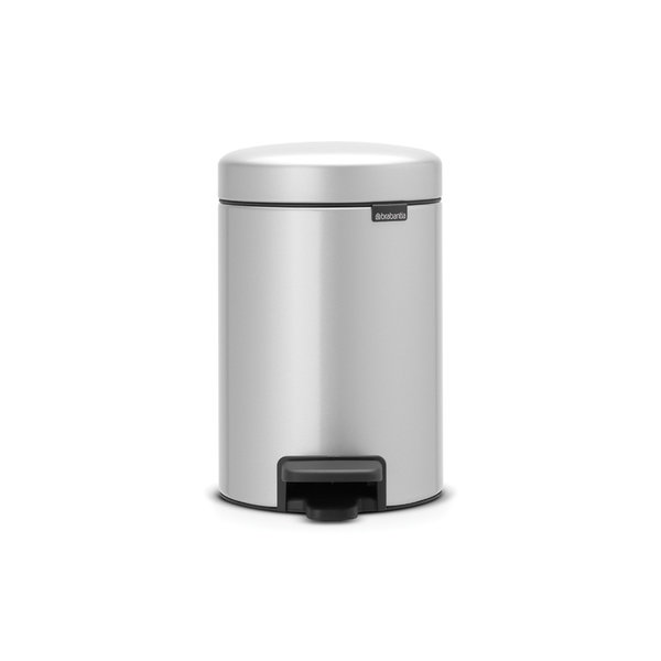 Brabantia NewIcon pedaalemmer 3ltr  Metallic Grey