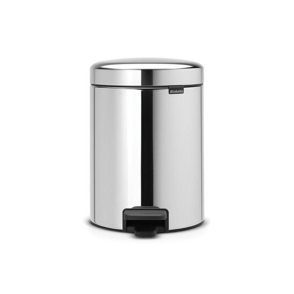 Brabantia NewIcon pedaalemmer 5ltr  Brilliant Steel