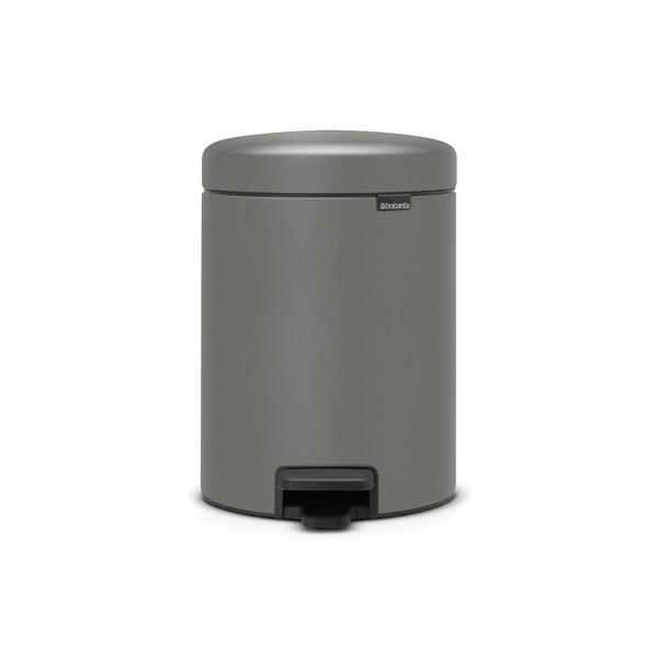 Brabantia NewIcon pedaalemmer 5ltr  Mineral Concrete Grey
