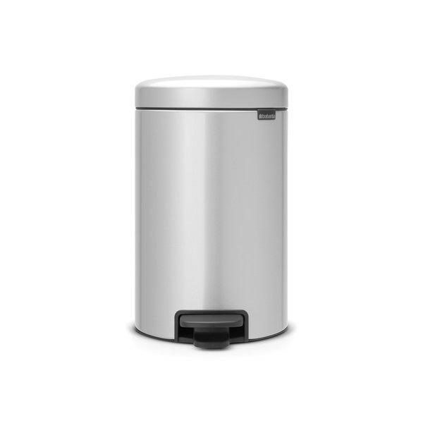 Brabantia NewIcon pedaalemmer 12ltr  Metallic Grey