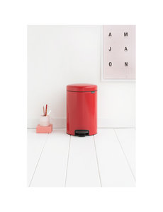 Brabantia NewIcon pedaalemmer 12ltr  Passion Red