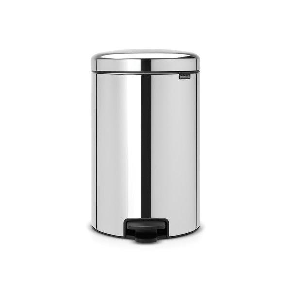 Brabantia NewIcon pedaalemmer 20ltr  Brilliant Steel
