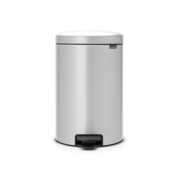 Brabantia NewIcon pedaalemmer 20ltr  Metallic Grey