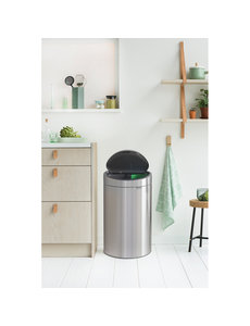 Brabantia Touch Bin Recycle afvalemmer 10 + 23 ltr Matt Steel