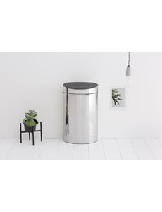 Brabantia Touch Bin Recycle afvalemmer 10 + 23 ltr Brilliant Steel