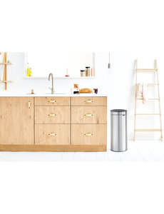 Brabantia Touch Bin afvalemmer 30 ltr  Matt Steel Fingerprint Proof