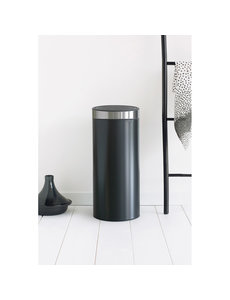 Brabantia Touch Bin afvalemmer 30 ltr  Matt Black / Matt Steel Fingerprint Proof