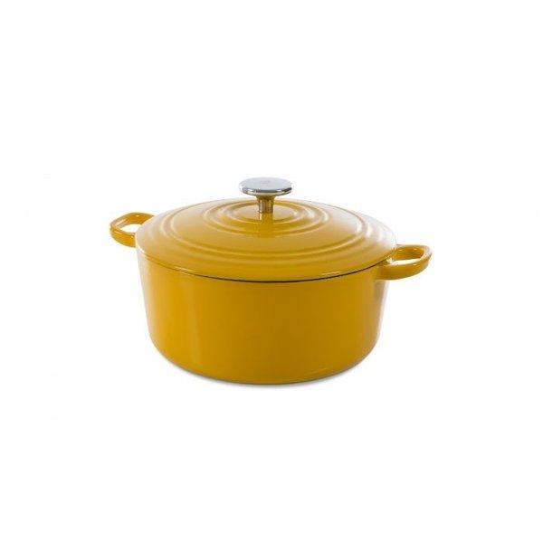 BK BK Bourgogne Braadpan - Sunny Yellow - 24 cm - Gietijzer