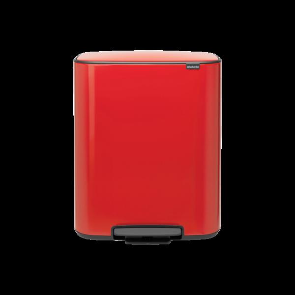 Brabantia Bo Hi Pedaalemmer - 2 x 30 liter - Passion Red