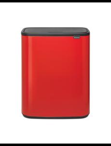 Brabantia Bo Touch Bin Afvalemmer - 2 x 30 liter - Passion Red