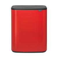 Bo Touch Bin Afvalemmer - 60 liter - Passion Red