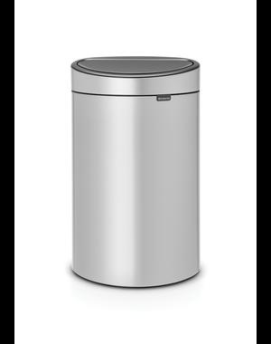 Brabantia Touch Bin Afvalemmer 40 ltr Metallic Grey