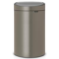 Touch Bin Afvalemmer 40 ltr Platinum