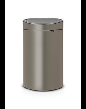 Brabantia Touch Bin Afvalemmer 40 ltr Platinum