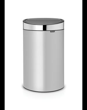 Brabantia Touch Bin Afvalemmer 40 ltr Metallic Grey/Brilliant Steel
