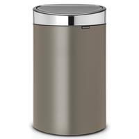 Touch Bin Afvalemmer 40 ltr Platinum/Matt Steel