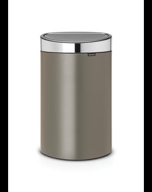 Brabantia Touch Bin Afvalemmer 40 ltr Platinum/Matt Steel