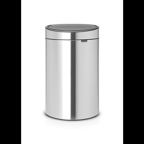 Touch Bin Afvalemmer 40 ltr Matt Steel Fingerprint Proof