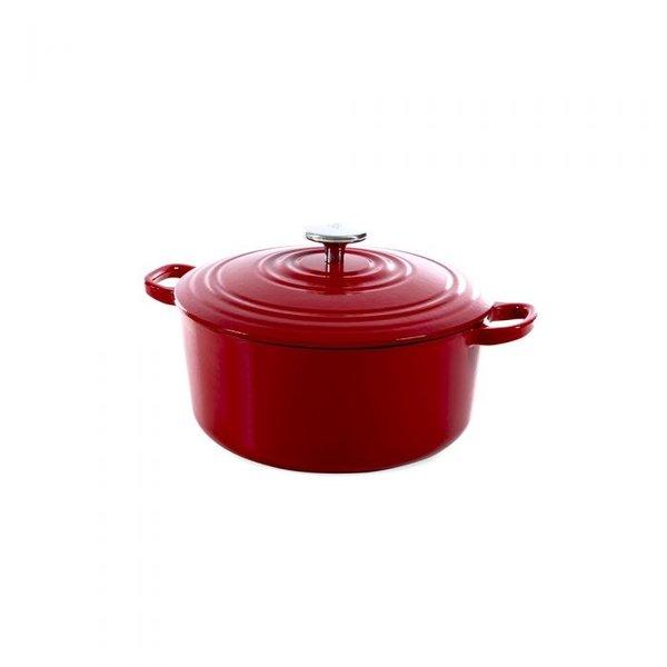 BK BK Bourgogne Braadpan - Chili Red - 24 cm - Gietijzer