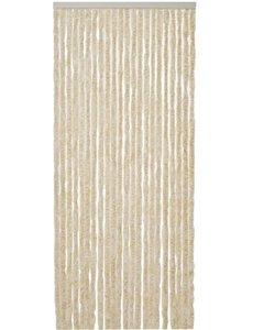 Vliegengordijn Kattenstaart - 220 x 90 cm - Beige/Wit