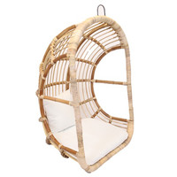 hangstoel egg chair Rattan Blond