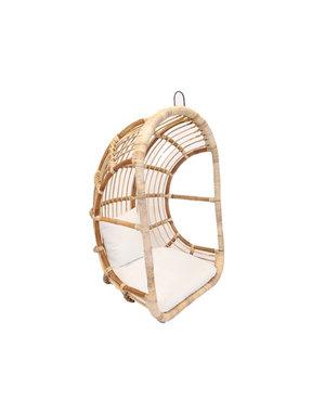 Van der Leeden hangstoel egg chair Rattan Blond