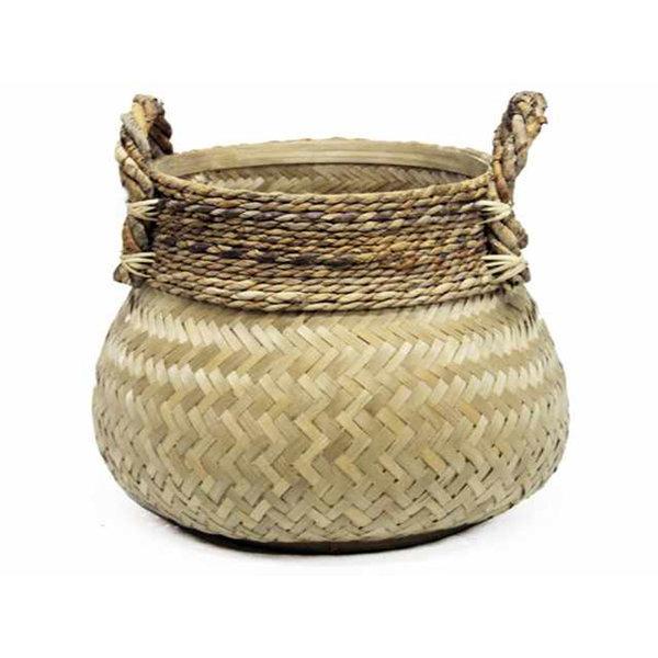 Van der Leeden Basket Bamboo Natural  - (D)58 x (H)40 cm