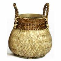 Basket Bamboo Natural - (D)34 x (H)24 cm