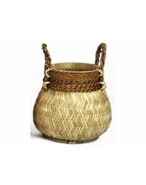 Van der Leeden Basket Bamboo Natural - (D)34 x (H)24 cm